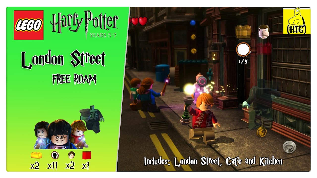Lego Harry Potter 5-7: London Streets FREE ROAM (All Collectibles) – HTGvvvvvv