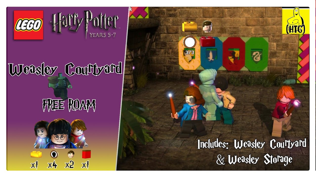 Lego Harry Potter 5-7: Weasley Courtyard FREE ROAM (All Collectibles) – HTG