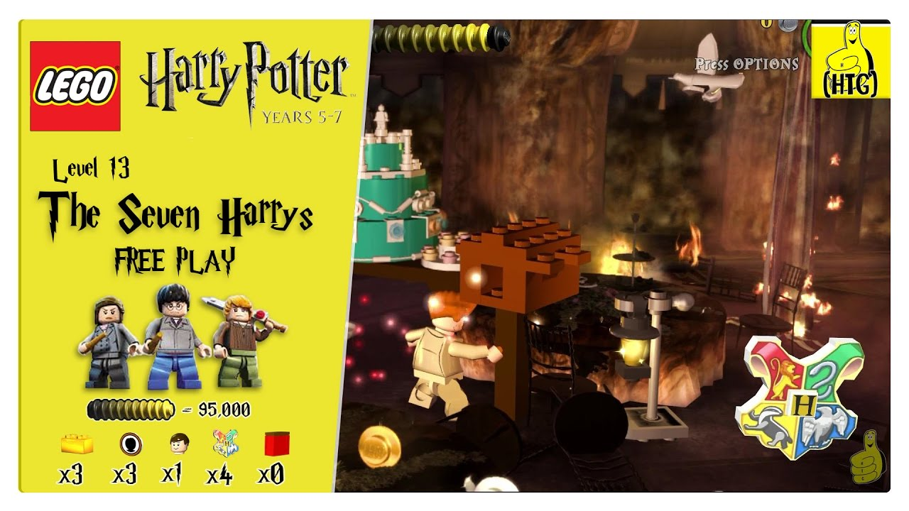 Lego Harry Potter Years 5-7: Lvl 13 / The Seven Harrys FREE PLAY (All Collectibles) – HTG