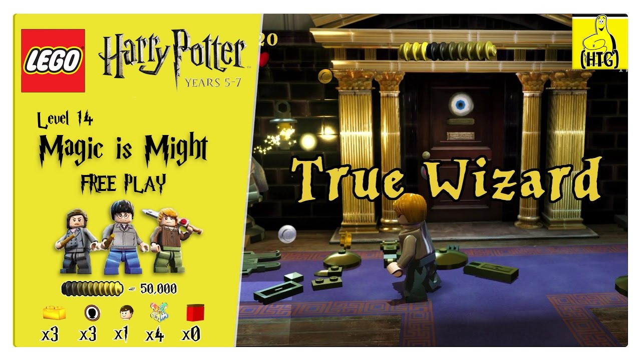 Lego Harry Potter Years 5-7: Lvl 14 / Magic is Might FREE PLAY (All Collectibles) – HTG