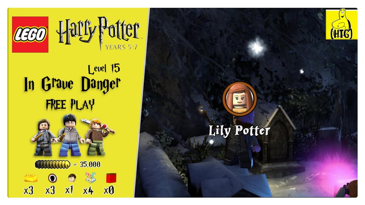 Lego Harry Potter Years 5-7: Lvl 15 / In Grave Danger FREE PLAY (All Collectibles) – HTG