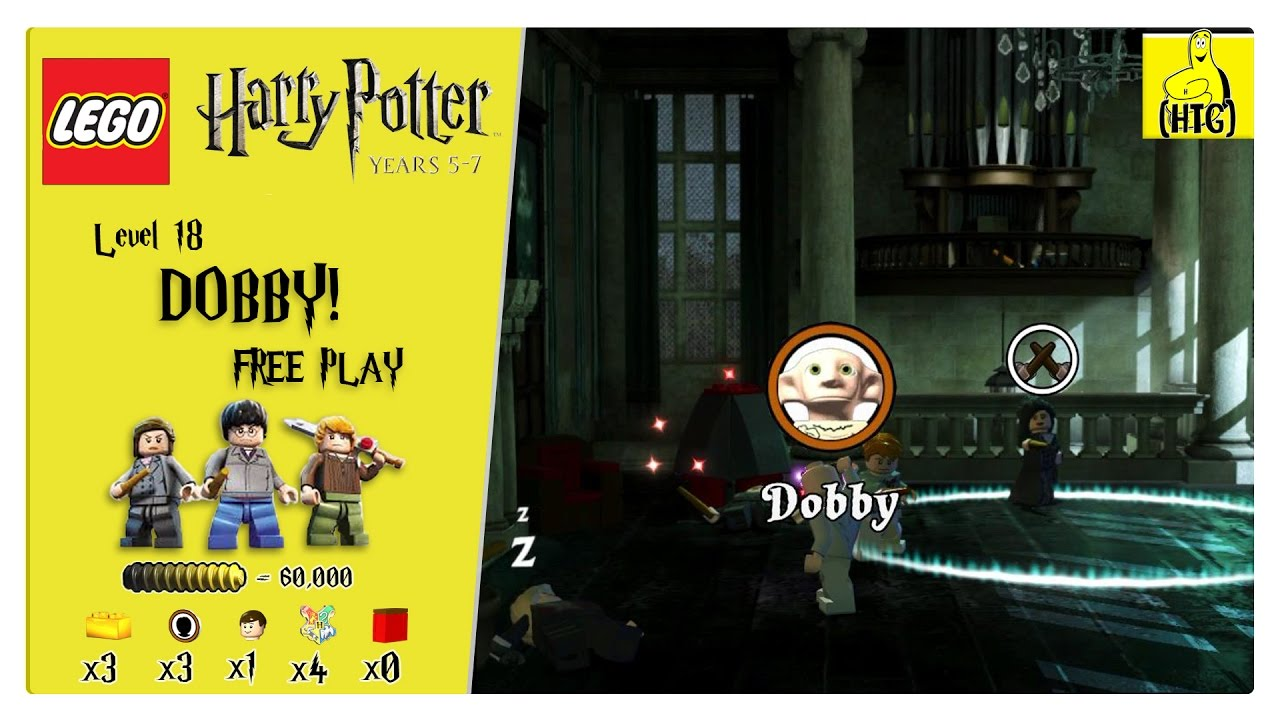 Lego Harry Potter Years 5-7: Lvl 18 / DOBBY! FREE PLAY (All Collectibles) – HTG