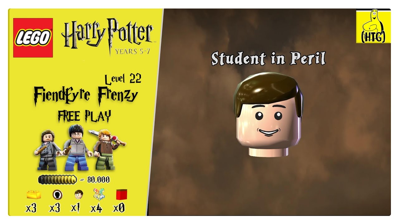 Lego Harry Potter Years 5-7: Lvl 22 / Fiendfyre Frenzy FREE PLAY (All Collectibles) – HTG