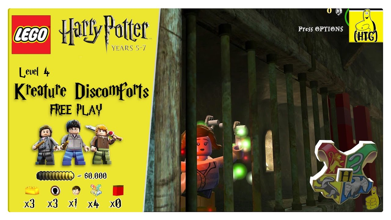 Lego Harry Potter Years 5-7: Lvl 4 / Kreature Discomforts FREE PLAY (All Collectibles) – HTG