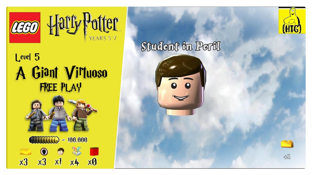 Lego Harry Potter Years 5-7: Lvl 5 / A Giant Virtuoso FREE PLAY (All Collectibles) – HTG