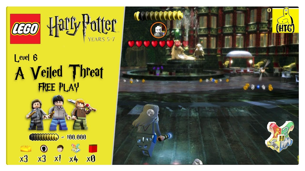 Lego Harry Potter Years 5-7: Lvl 6 / A Veiled Threat FREE PLAY (All Collectibles) – HTG