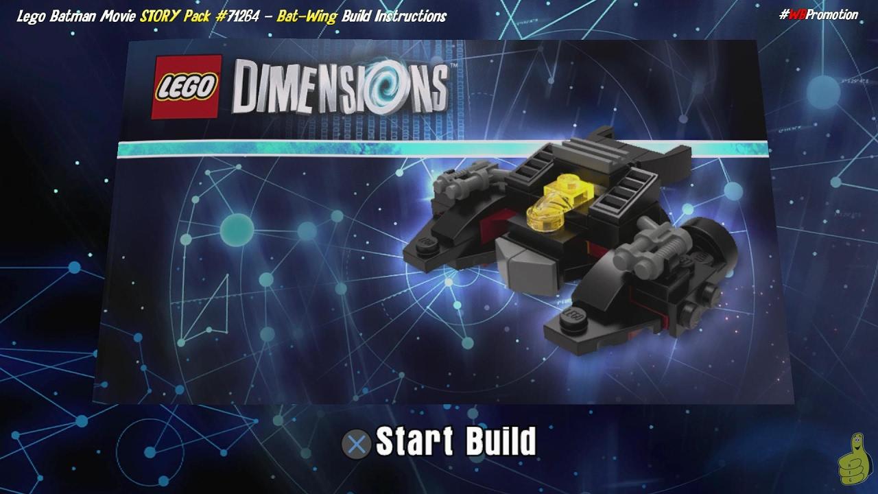 Lego Dimensions: Bat-Wing / Build Instructions (Lego Batman Movie STORY Pack #71264) – HTG