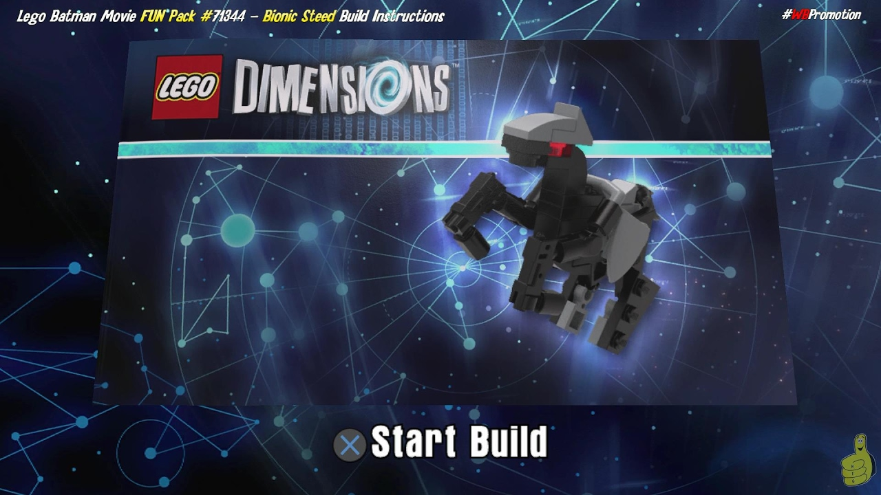 Lego Dimensions: Bionic Steed / Build Instructions (Excalibur Batman FUN Pack #71344) – HTG