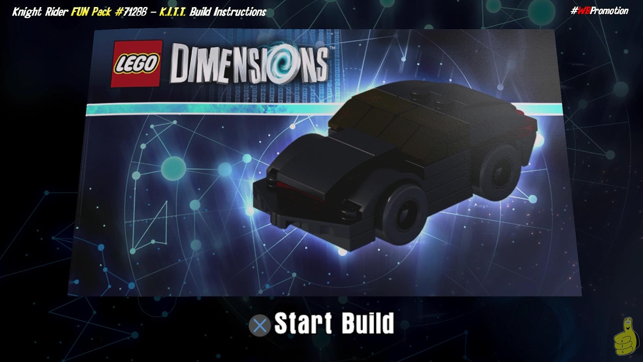 Lego Dimensions: K.I.T.T. / Build Instructions (Knight Rider FUN Pack #71286) – HTG