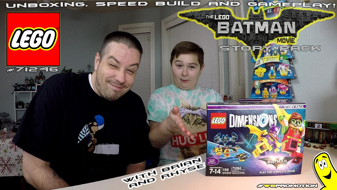 Lego Dimensions: Lego Batman Movie STORY Pack #71264 Unboxing, Speed Build & Gameplay – HTG