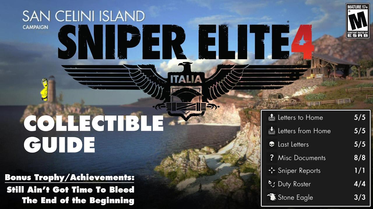 Sniper Elite 4: Level 1 / San Celini Island (Collectible Guide) – HTG