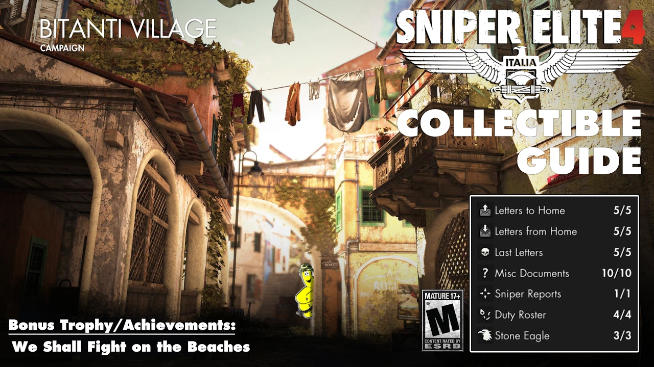 Sniper Elite 4: Level 2 / Bitanti Village (Collectibles Guide) – HTG