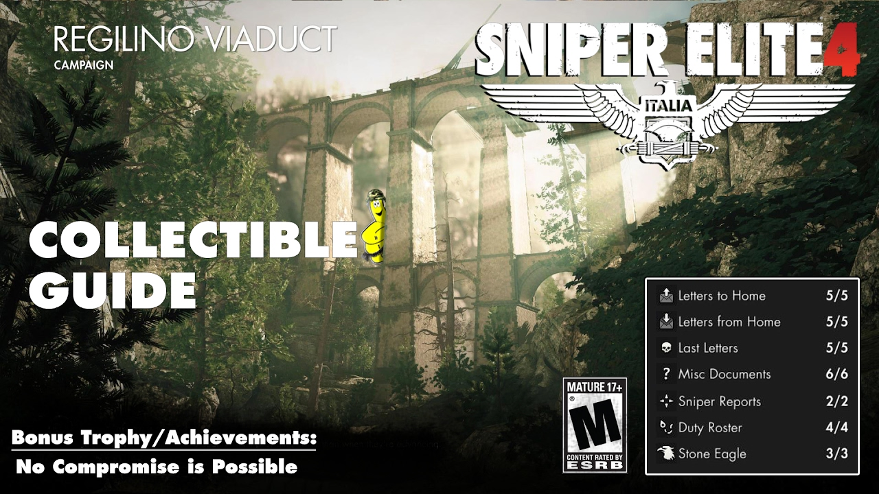 Sniper Elite 4: Level 3 / Regilino Viaduct (Collectibles Guide) – HTG