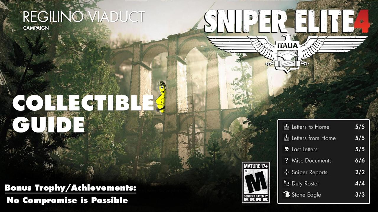 Sniper Elite 4: Level 3 / Regilino Viaduct (Collectibles Guide) – HTG