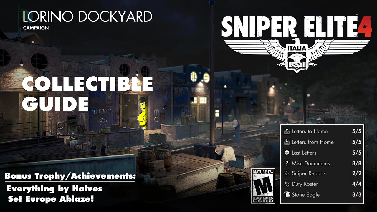 Sniper Elite 4: Level 4 / Lorino Dockyard (Collectibles Guide) – HTG