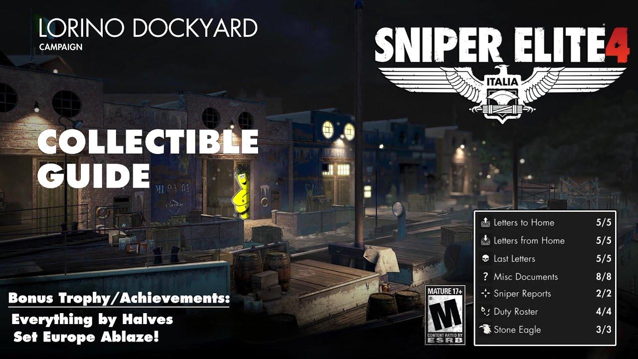Sniper Elite 4: Level 4 / Lorino Dockyard (Collectibles Guide) – HTG