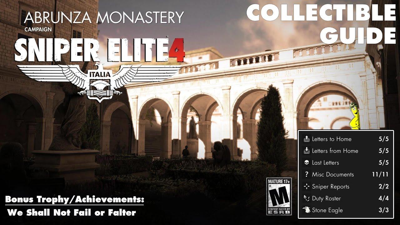 Sniper Elite 4: Level 5 / Abrunza Monastery (Collectibles Guide) – HTG