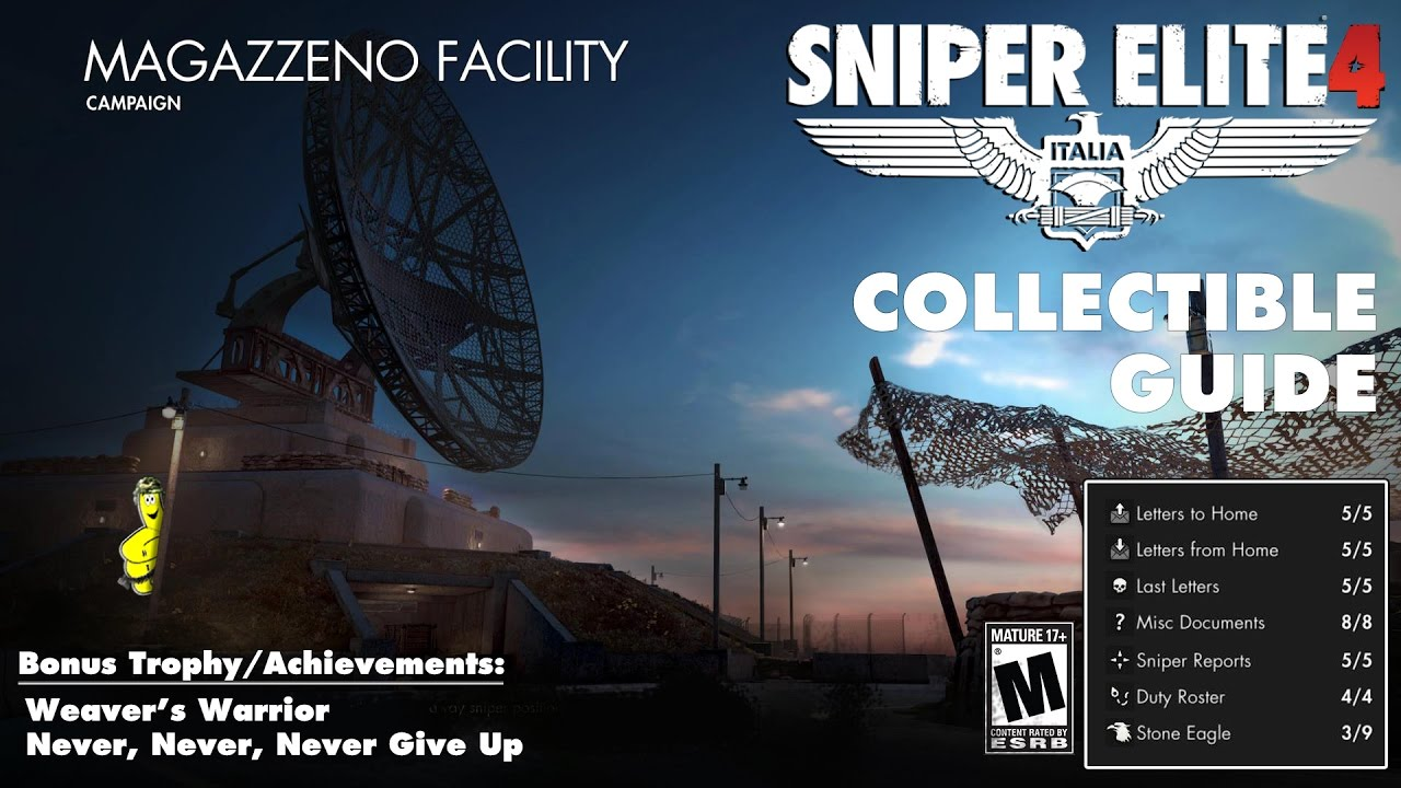 Sniper Elite 4: Level 6 / Magazzeno Facility (Collectibles Guide) – HTG
