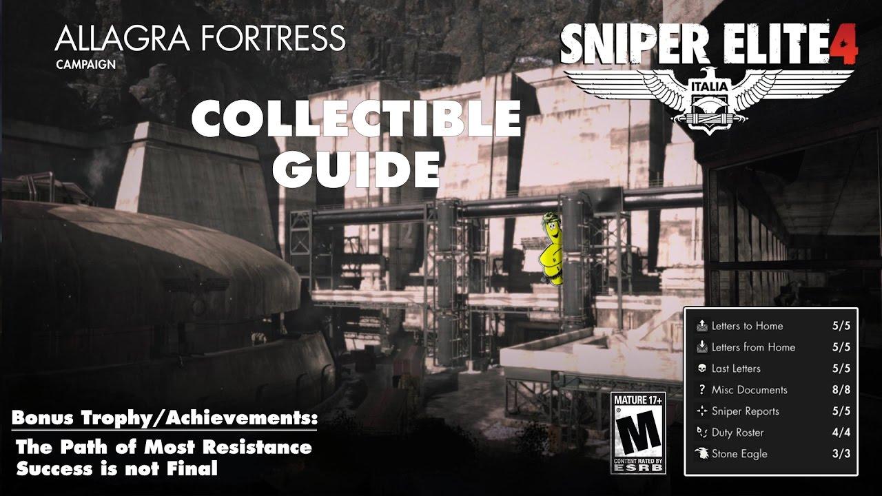 Sniper Elite 4: Level 8 / Allagra Fortress (Collectibles Guide) – HTG
