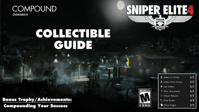 Sniper Elite 4: Level 10 / Railyard (Collectibles Guide) – HTG