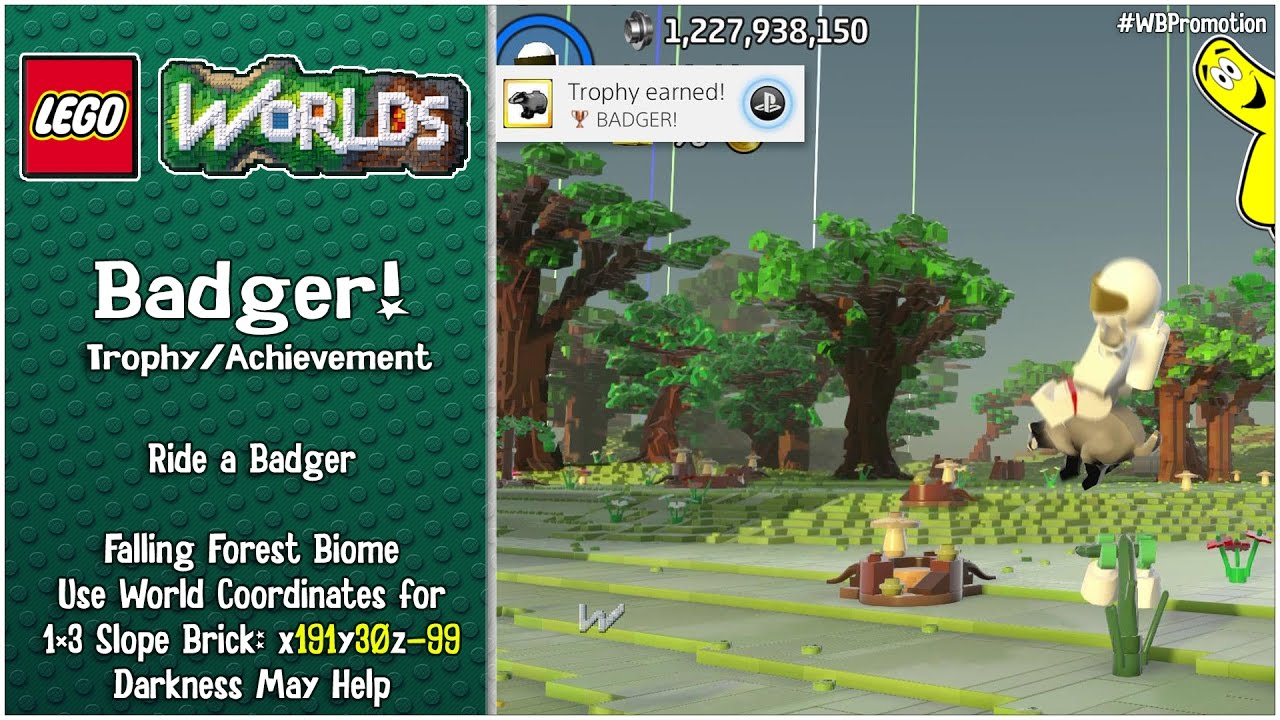 "Lego Worlds: ""Badger!"" Trophy/Achievement – HTG"