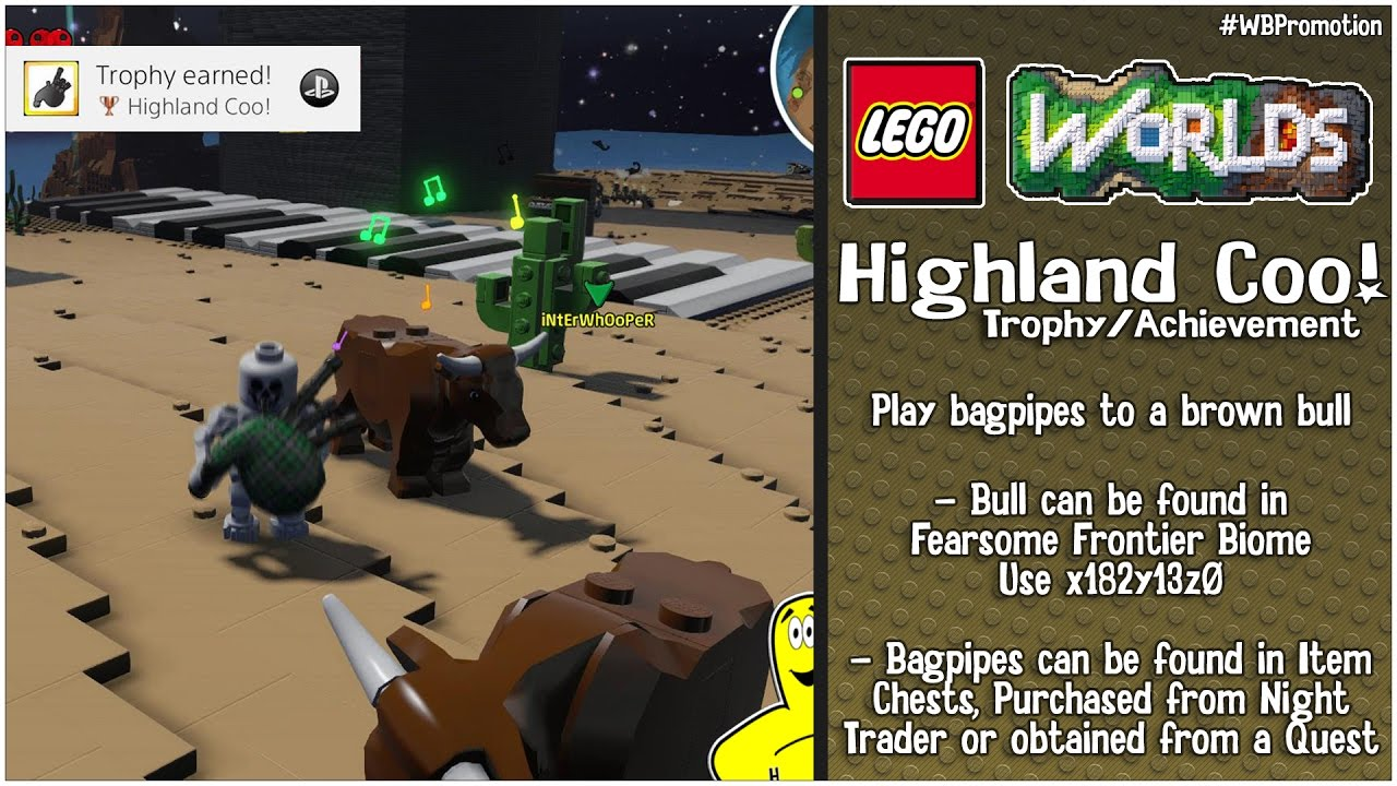 "Lego Worlds: ""Highland Coo!"" Trophy/Achievement – HTG"