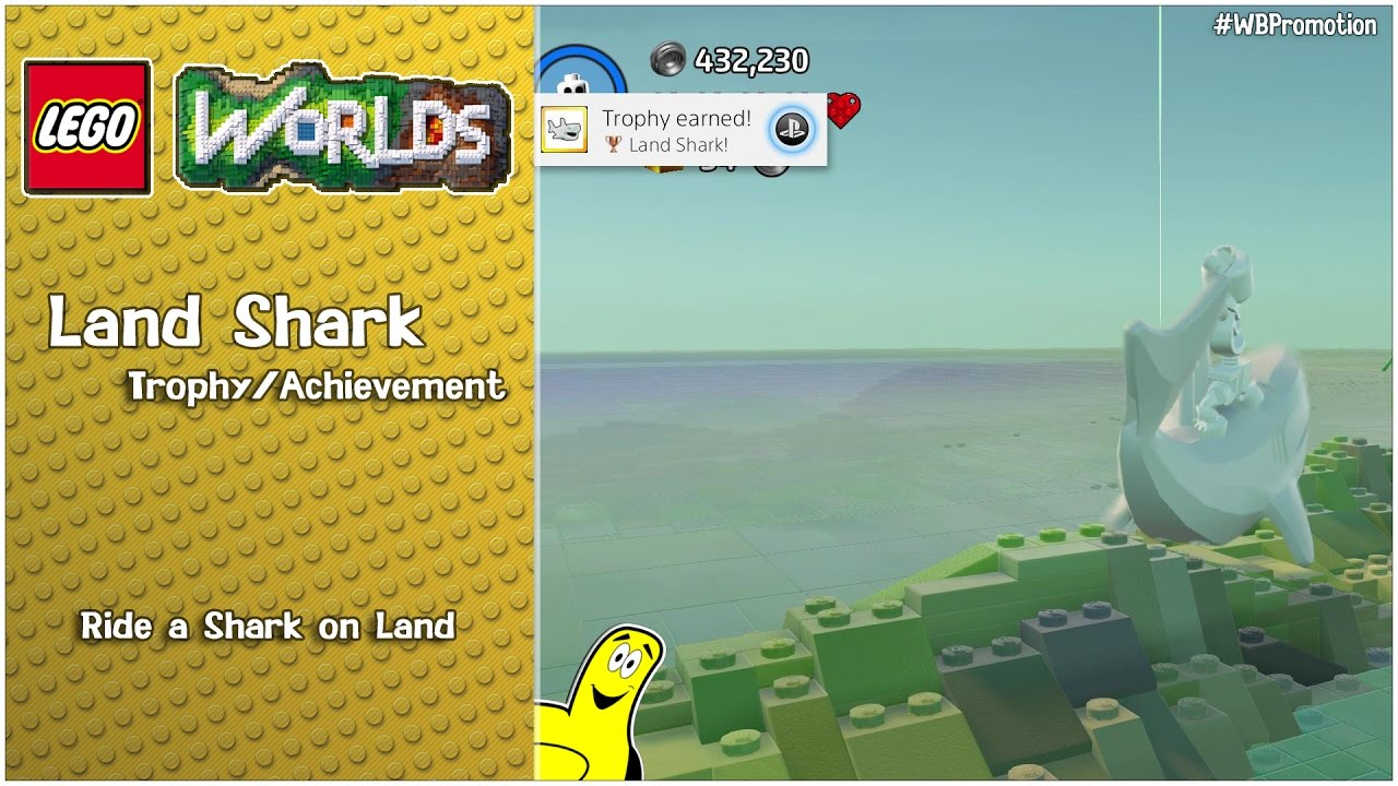 "Lego Worlds: ""Land Shark"" Trophy/Achievement – HTG"