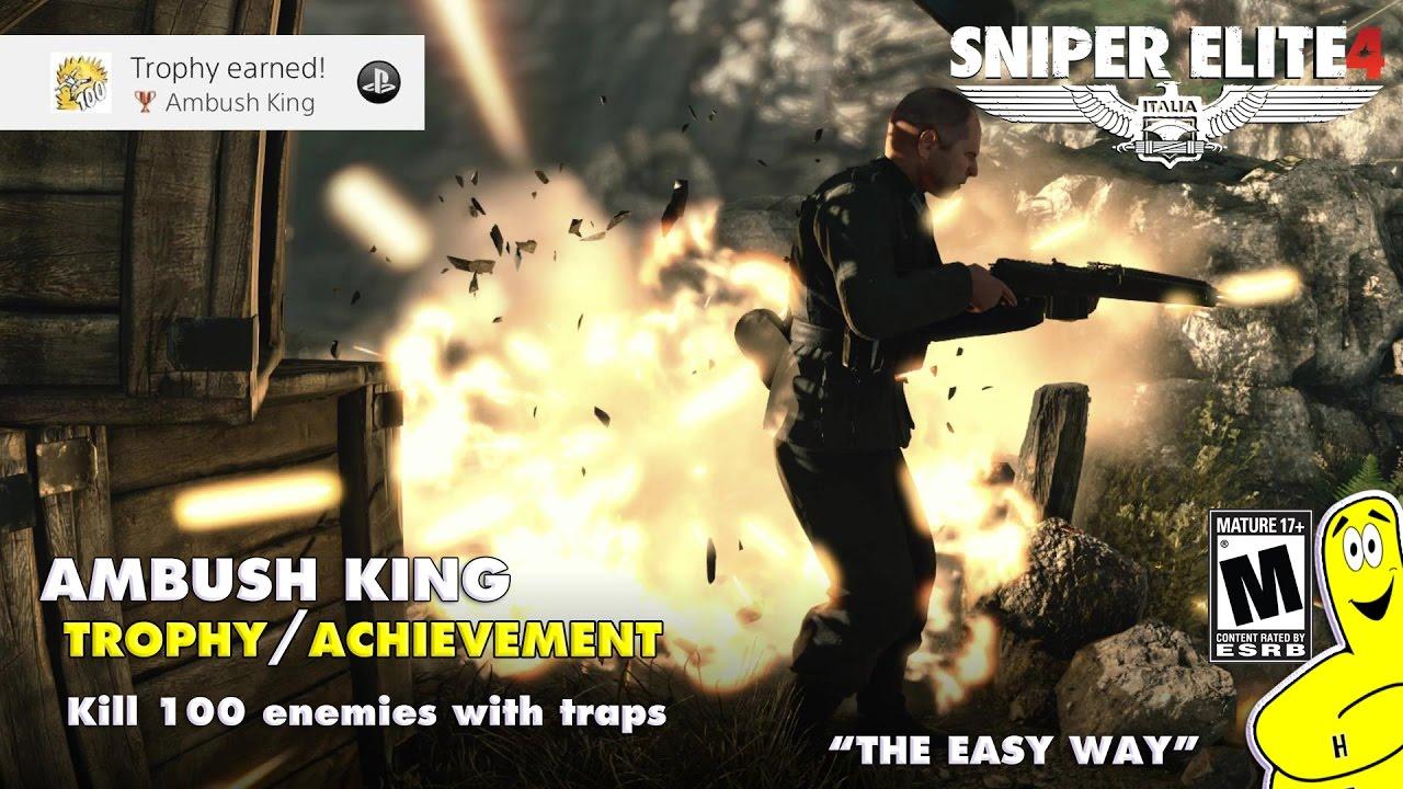 """Sniper Elite 4: """"Ambush King"""" Trophy/Achievement – HTG"""