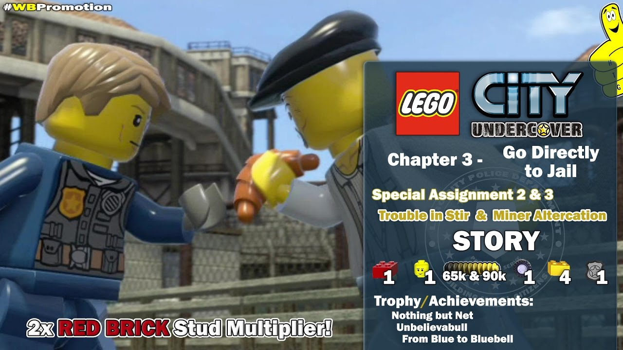 Lego City Undercover: Chapter 3 Go Directly to Jail / Special Assignment 2 & 3 STORY – HTG