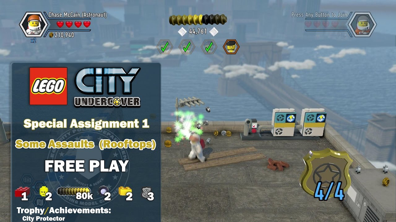 Lego City Undercover: Special Assignment 1 Some Assaults (Rooftops) FREE PLAY – HTG