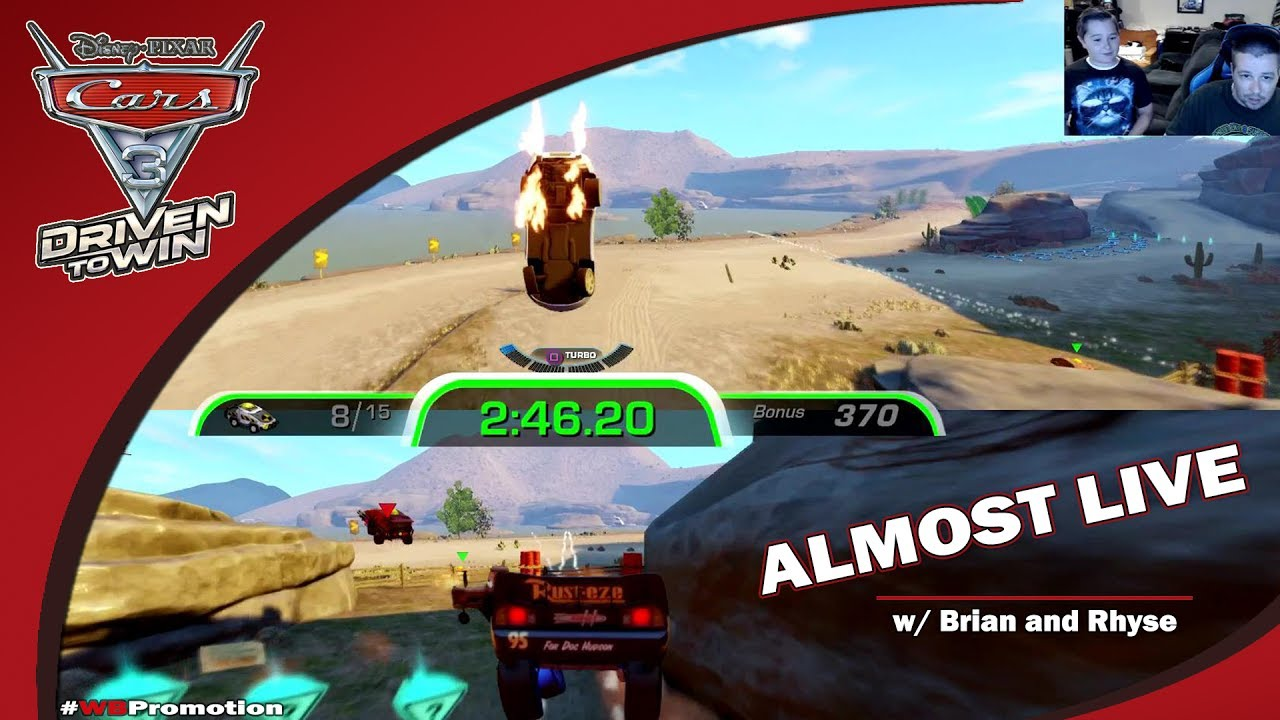 Cars 3 Driven to Win: Almost Live w/ Brian & Rhyse (30+ Min of Co-op Gameplay!) – HTG