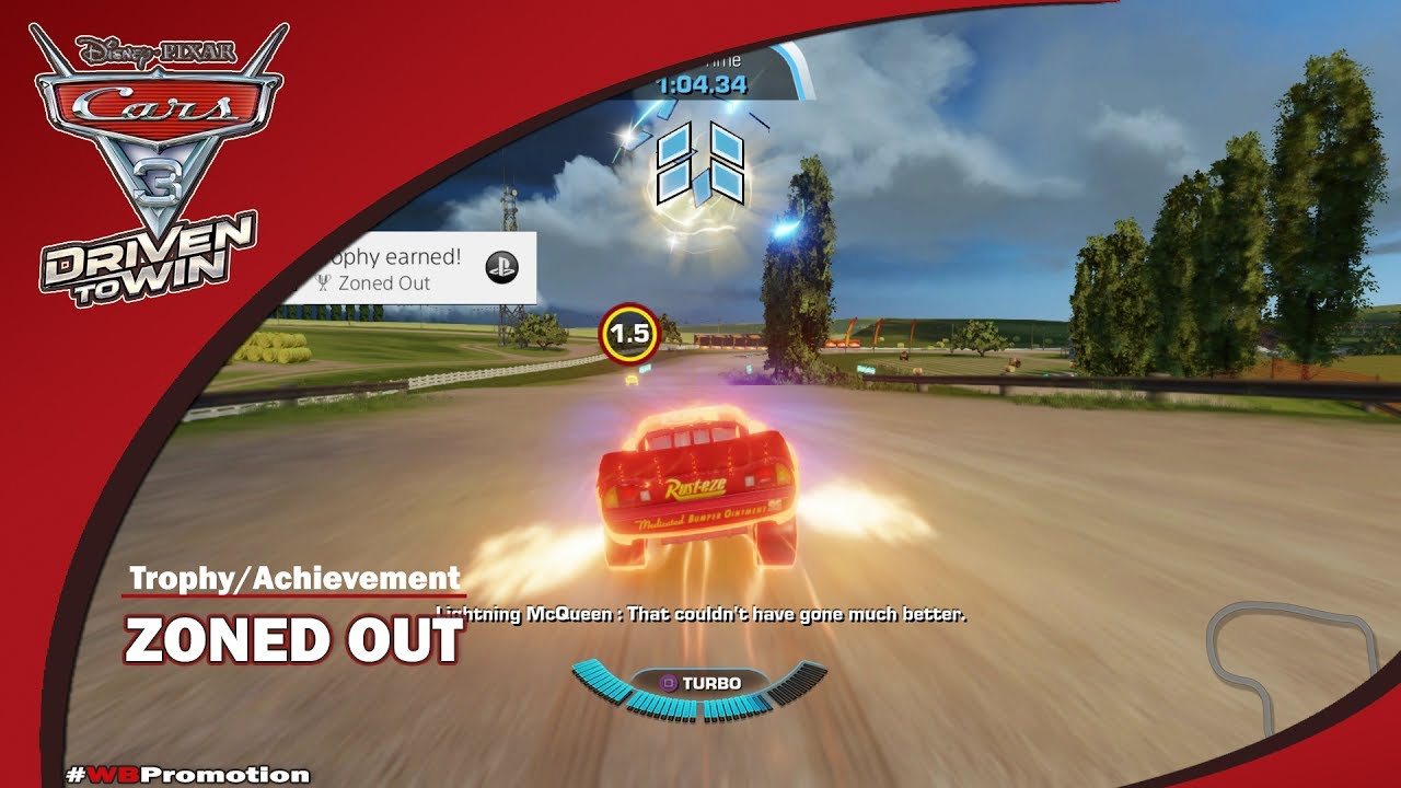 Cars 3 Driven to Win: Zoned Out Trophy/Achievement – HTG