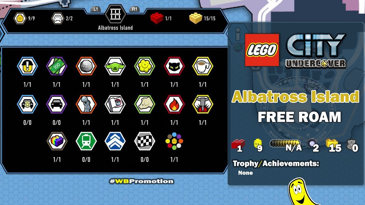 Lego City Undercover: Albatross Island FREE ROAM (All Collectibles) – HTG