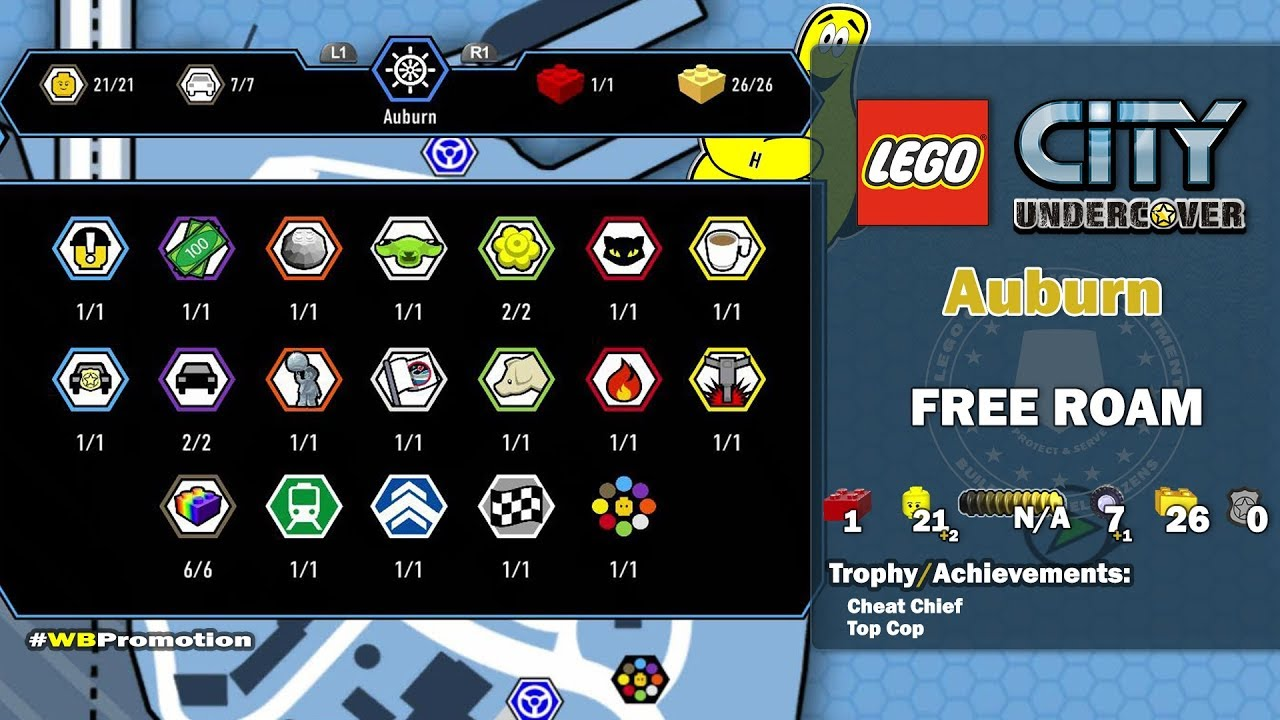 Lego City Undercover: Auburn FREE ROAM (All Collectibles) – HTG
