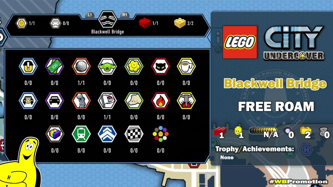 Lego City Undercover: Blackwell Bridge FREE ROAM (All Collectibles) – HTG