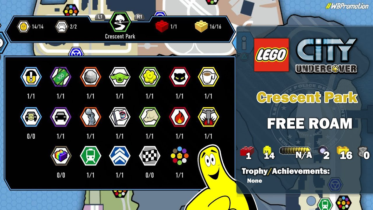 Lego City Undercover: Crescent Park FREE ROAM (All Collectibles) – HTG