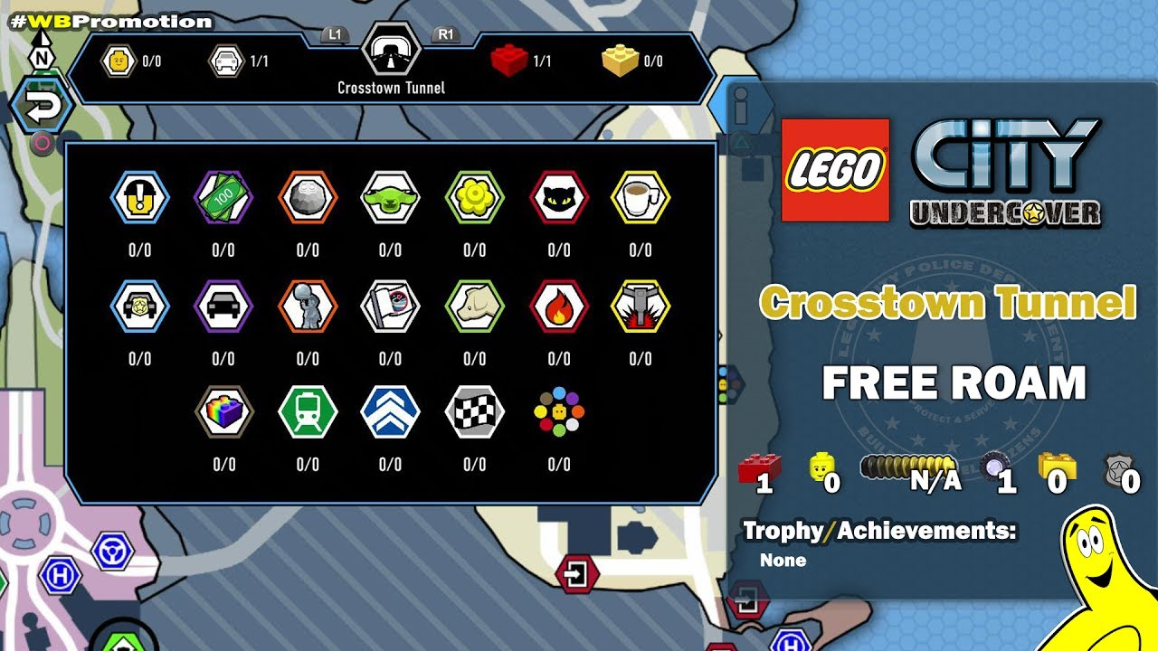 Lego City Undercover: Crosstown Tunnel FREE ROAM (All Collectibles) – HTG