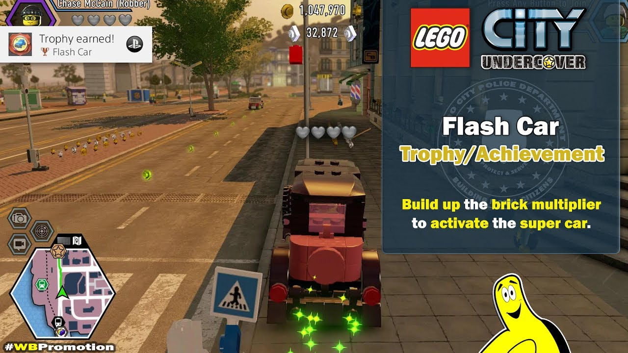 Lego City Undercover: Flash Car Trophy/Achievement – HTG