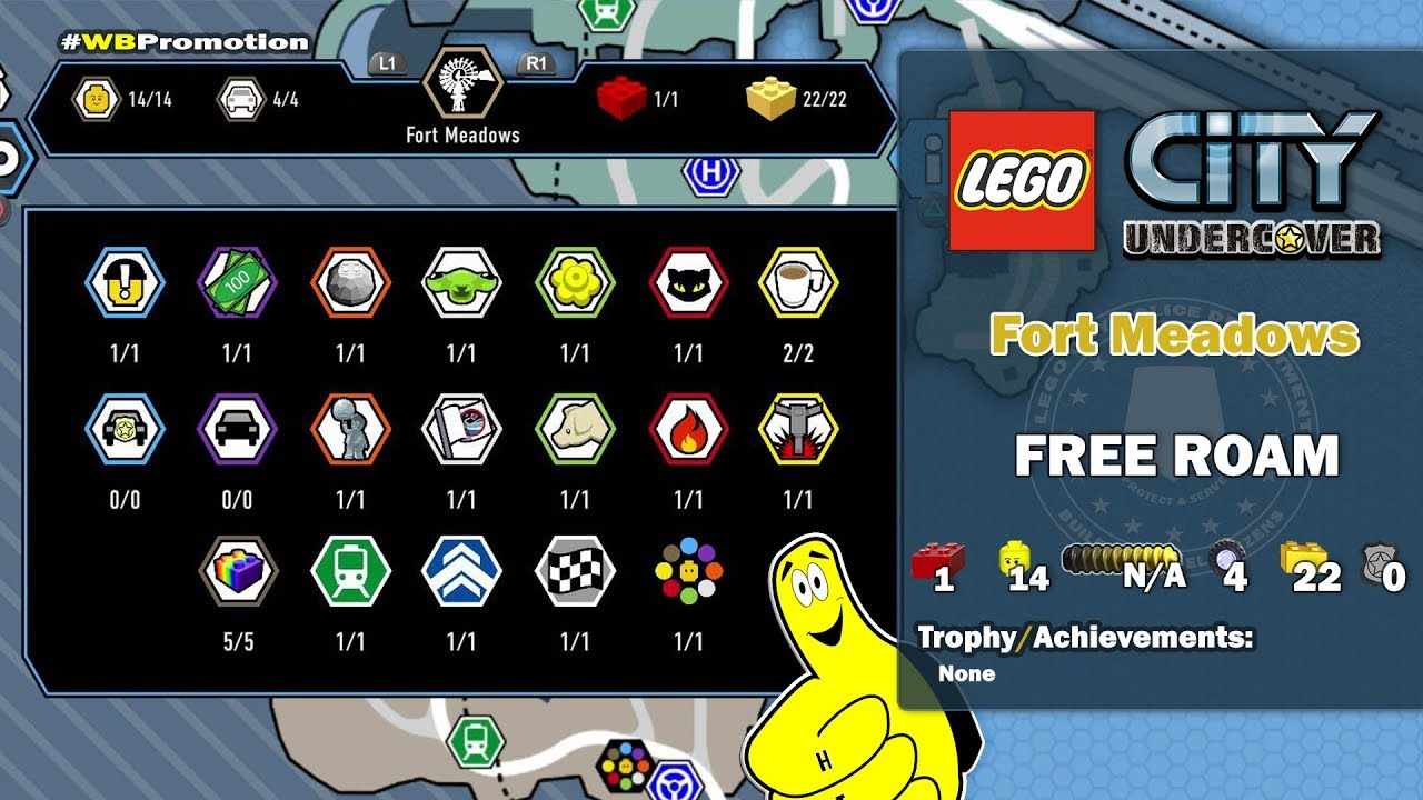 Lego City Undercover: Fort Meadows FREE ROAM (All Collectibles) – HTG