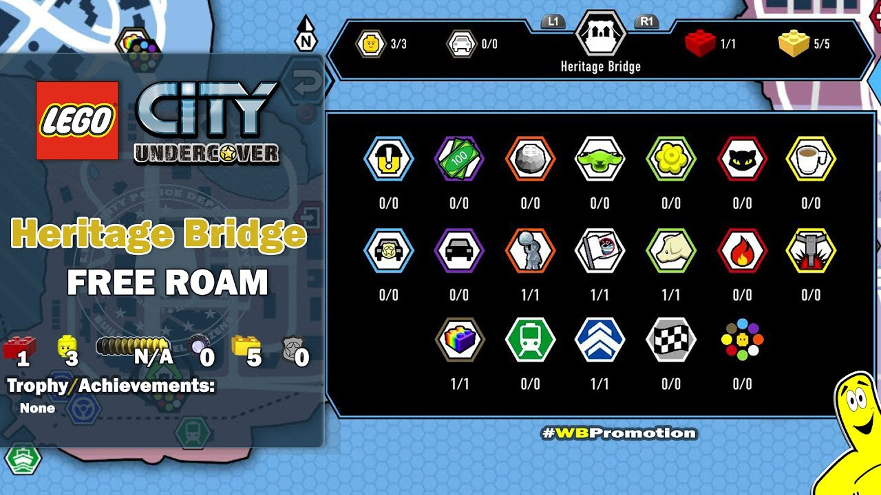 Lego City Undercover: Heritage Bridge FREE ROAM (All Collectibles) – HTG