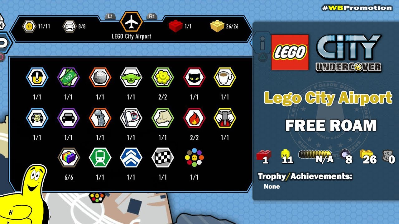 Lego City Undercover: Lego City Airport FREE ROAM (All Collectibles) – HTG