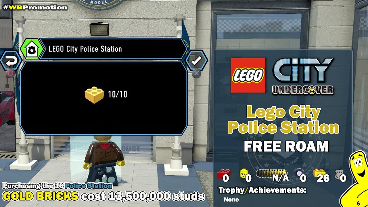 Lego City Undercover: Lego City Police Station FREE ROAM (All Collectibles) – HTG