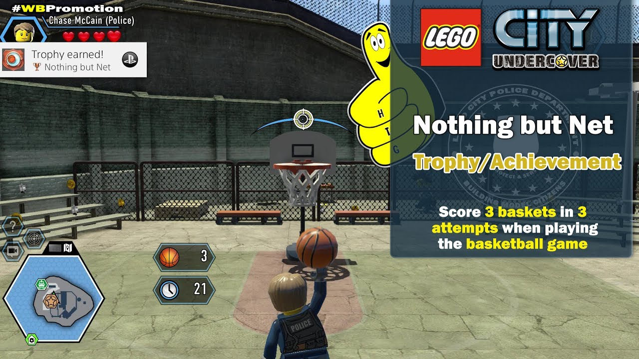 Lego City Undercover: Nothing But Net Trophy/Achievement – HTG