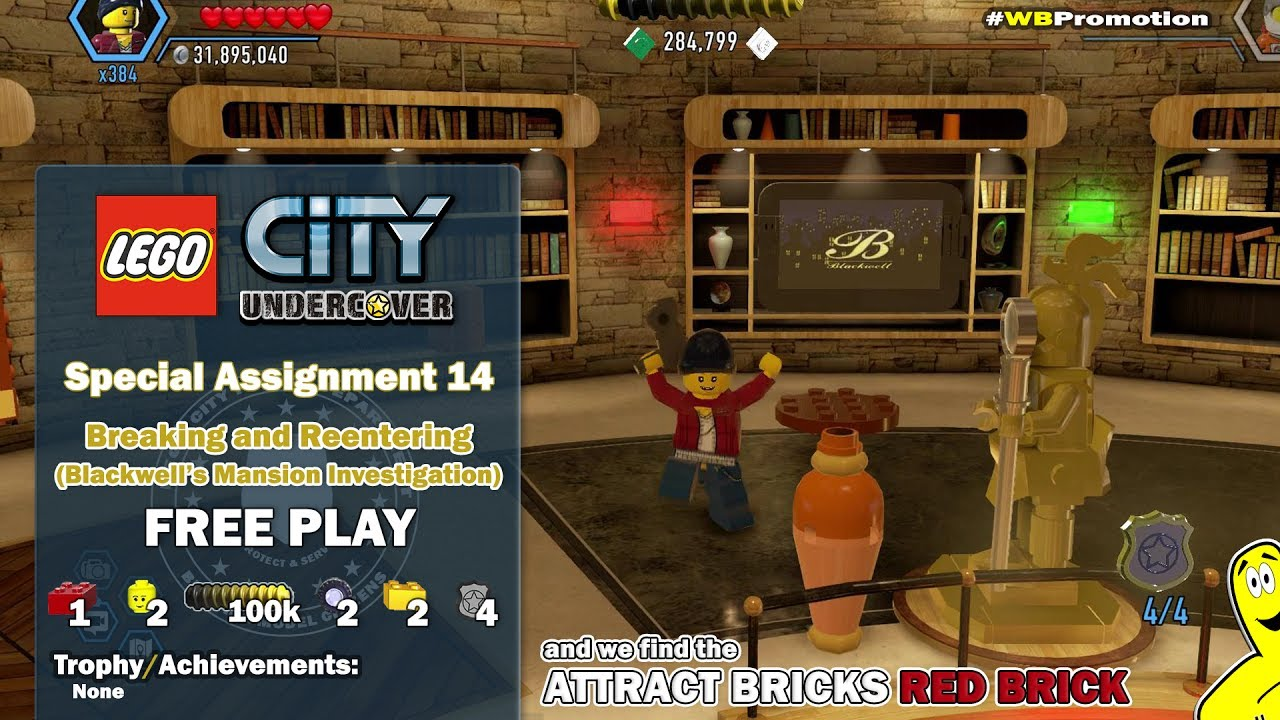 Lego City Undercover: Special Assignment 14 Breaking and Reentering (Collectibles) FREE PLAY – HTG