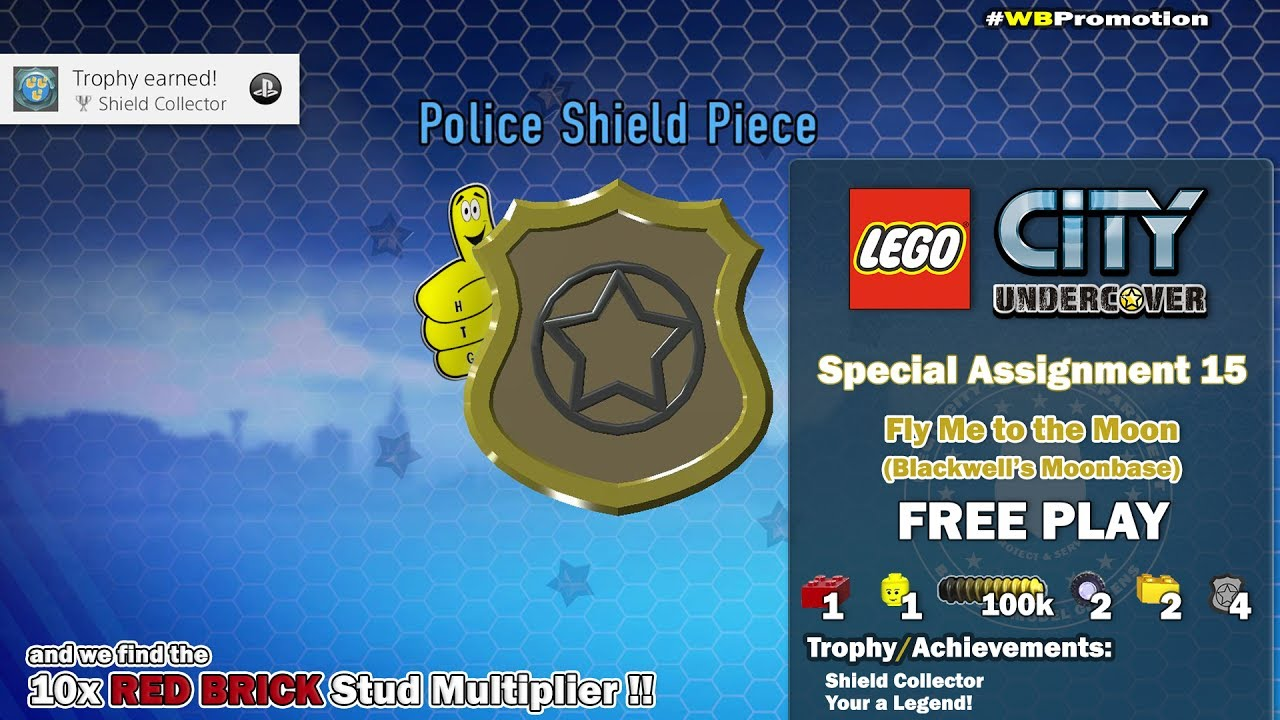 Lego City Undercover: Special Assignment 15 Fly Me to the Moon (Blackwell's Moonbase) FREE PLAY- HTG