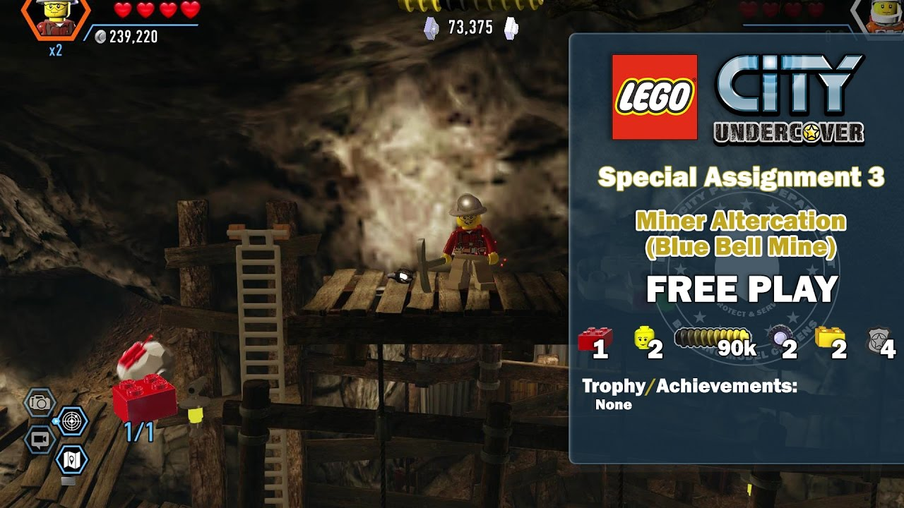 Lego City Undercover: Special Assignment 3 Miner Altercation (Blue Bell Mine) FREE PLAY – HTG