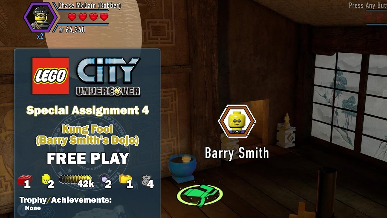 Lego City Undercover: Special Assignment 4 Kung Fool (Barry Smith's Dojo) FREE PLAY – HTG