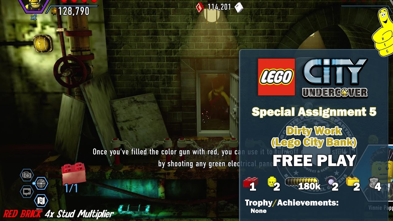 Lego City Undercover: Special Assignment 5 Dirty Work (Lego City Bank) FREE PLAY – HTG