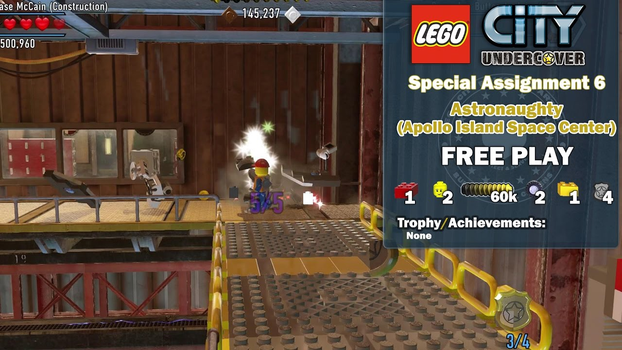 Lego City Undercover: Special Assignment 6 Astronaughty (Apollo Island Space Center) FREE PLAY – HTG