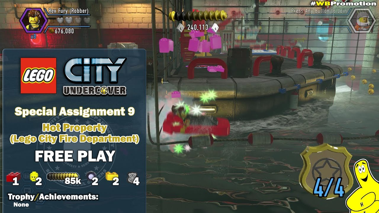 Lego City Undercover: Special Assignment 9 Hot Property (Lego City Fire Department) FREE PLAY – HTG